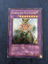 Yugioh Elemental Hero Wild Wingman Ultimate Rare 1st Edition EOJ-EN035