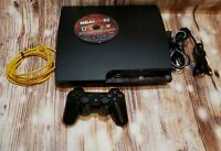 Sony PlayStation 3 PS3 2001B 250GB Console, Controller, 1 Game w/ Box  *Tested*