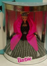 Barbie Holiday 1998 Nib Black Velvet Dress Blonde