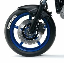 SEND NUDES white tire stickers , tire decals, lettering for motorcycle, 10 pack