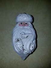 P. Schifferl Winter White Santa Head Owl Rabbit Bird Ornament Midwest Signed