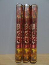 Potpourri Incense  3 Packs x 20 Sticks  HEM Hex   Free Post AU