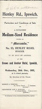"""IPSWICH : 1932 Medium Size Residence-""""Morcombe""""-55 Henley Road -sale particulars"""