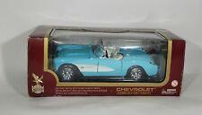 Yat Ming Road Legends 1957 Chevrolet Corvette Diecast Turquoise 1:18 Chevy 92018