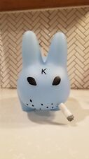 "Kidrobot 10"" Clear Blue Smorkin Labbit Vinyl Figure Toy Frank Kozik New"