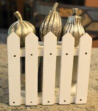 New Pottery Barn THANKSGIVING GOURDS ON THE FENCE Cheese Spreaders - Set of 3