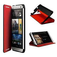 HTC One Mini (M8) Double DIP Flip Black Red Case