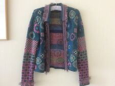 OILILY WOMENS CARDIGAN Knit JACKET Made in ITALY $400 size M/L great condition