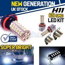 H11 69 SMD LED KIT HIGH POWEREDWHITE FOG FLASH DIPPED HIGH BEAM UK STOCK