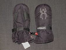 SPYDER BLACK MINI CUBBY MITTENS GIRL'S BOY'S TODDLER SIZE MEDIUM 4-5 yo
