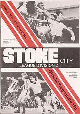 Football Programme - Stoke City v Mansfield Town - Div 2 - 2/1/1978