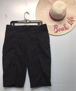 Chicos Black Bermuda Shorts Size 2 = L = 12