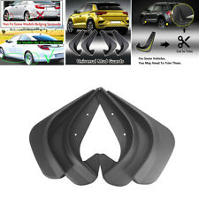 4 Piece Black Car Mud Flaps Splash Guards Mudflaps Mudgurads Fender Accessories