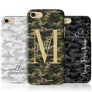 Personalised Camouflage Phone Case for Apple iPhone Models Camo Army Navy Marble