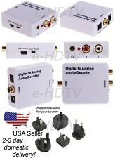 NEW TV Digital S/PDIF to Analog Stereo RCA Audio Converter Dolby 5.1 7.1 Decoder