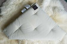NEW Pottery Barn Tan ivory Tufted Corner Bench Cushion Cotton 23x25 inches Nook