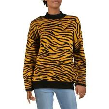 Gilli Womens Animal Print Mock Neck Pullover Sweater Top BHFO 7128