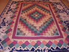 Cute Roof Top Granny Square w/Frame & Prairie Point Edge Quilt