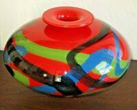 Large Ioan Nemtoi Romanian Art Glass Vase, Hand Blown - Cordoba Collection