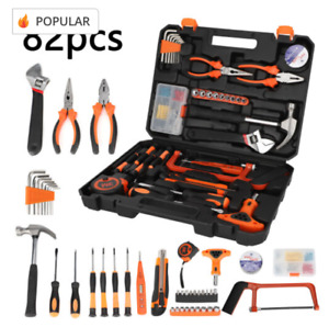 Tool Kit Home Repair Daily Maintenance Pliers Socket Set, 82 PiecesWith Case