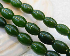 8x12mm Natural Green Emerald Gemstone Rice-shaped Loose Beads 15""