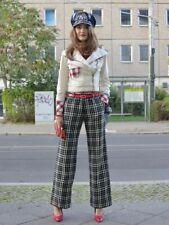 Killah Wollhose Damenhose kariert schwarz weiß 00er True VINTAGE 90s trousers 38