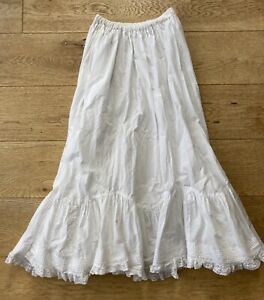 Laura Ashley Vintage Cotton & Lace Edwardian Victorian Petticoat Fits UK 8-16