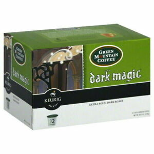 Green Mountain Dark Magic Dark Roast Ground Coffee 12 K-Cups 4.8 Oz ^5