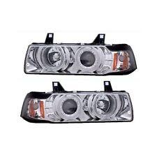 CG BMW 3 Series E36 92-98 4 Dr Projector Headlight G2 Halo Chrome Clear