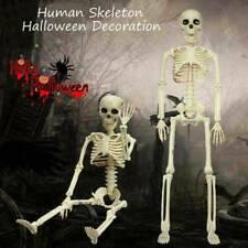 Kunststoff gegliederten menschliches Skelett Dekoration Halloween Party Prop~