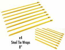 """X4 UNIVERSAL 8"""" STAINLESS STEEL ZIP TIE CABLE FOR DOWNPIPE INTERCOOLER PIPING GD"""