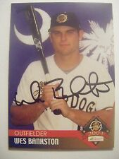 WES BANKSTON signed A's 2004 CHARLESTON baseball card AUTO Autographed PLANO TX