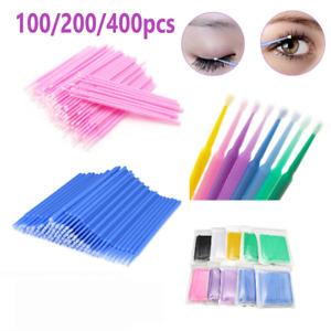 100*Einweg Micro Brush Wimpernverlängerung Applikator Lash Mascara Bürste Pinsel