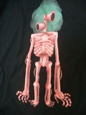 Skeleton w/ Speaker Head T Shirt Black Cotton Multi-color Screen Print M XL NWOT
