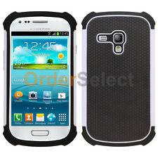 NEW Hybrid Rubber Hard Case Skin for Android Phone Samsung Galaxy S3 Mini White