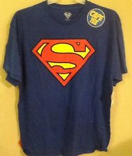 Superman Logo W/ Cape DC Comics Tee Shirt Large Size 42-44 Man Of Steel New 52