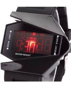 Gift-Kids Boys Girl Power Rangers Digital 7-colour LED Sports Metal Wrist Watch
