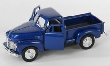 BLITZ VERSAND Chevrolet 3100 Pick Up 1953 blau blue Welly Modell Auto 1:34 NEU
