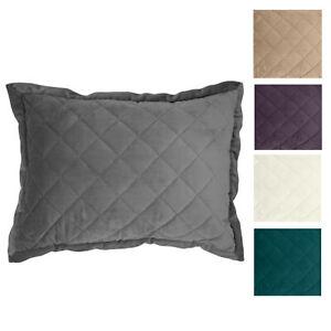"""HiEnd Accents Diamond Velvet Quilted Boudoir Pillow (12"""" x 16"""")"""
