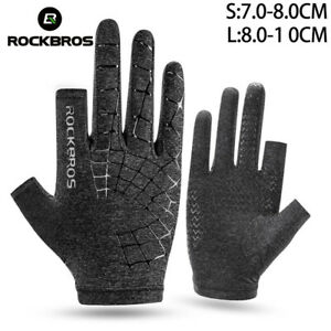 ROCKBROS Cycling Bike Gloves Touch Screen Breathable Anti-Slip Elasticity Gloves
