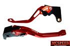 YAMAHA FZ6 600 FAZER/S2 2004-2010 Adjustable Brake & Clutch CNC Levers Red