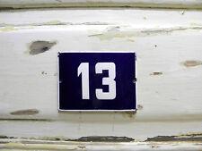 Vintage House Number 13 Enamel Sign House Plaque Outdoor Number House Sign