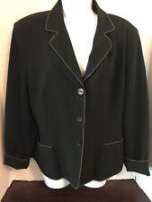 JACLYN SMITH Women's Black 3 Button Short Blazer Wear to Work Size 14