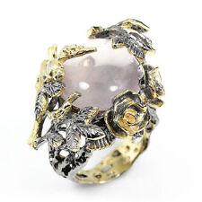 Echte Edelstein-Ringe aus Gelbgold mit Rosenquarz