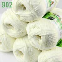 6Skeins X 50g Baby Natural Smooth Soft Bamboo Cotton Knitting Yarn Knitwear 02