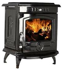 11.5kW 657 Lilyking Black Enamel Multi Fuel Cast Iron Boiler Stove - STOVE SALE