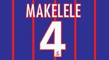 MAKELELE #4 PSG 2009-2010 HOME FOOTBALL Nameset per maglia Paris Saint Germain
