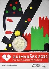 Portugal 2 Euro 2012 Kulturhauptstadt Guimaraes Stempelglanz in CoinCard