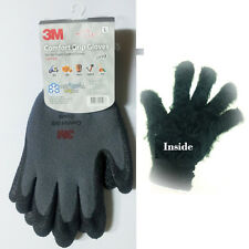 3M Nitrile Foam Coated Work Safety Gloves Extreme Cold Winter Gray M  L