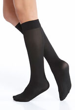 NIP! KUSHYFOOT OPAQUE KNEE LENGTH HIGHS PADDED SOLE 2 PAIR -COLOR: BLACK VARIETY